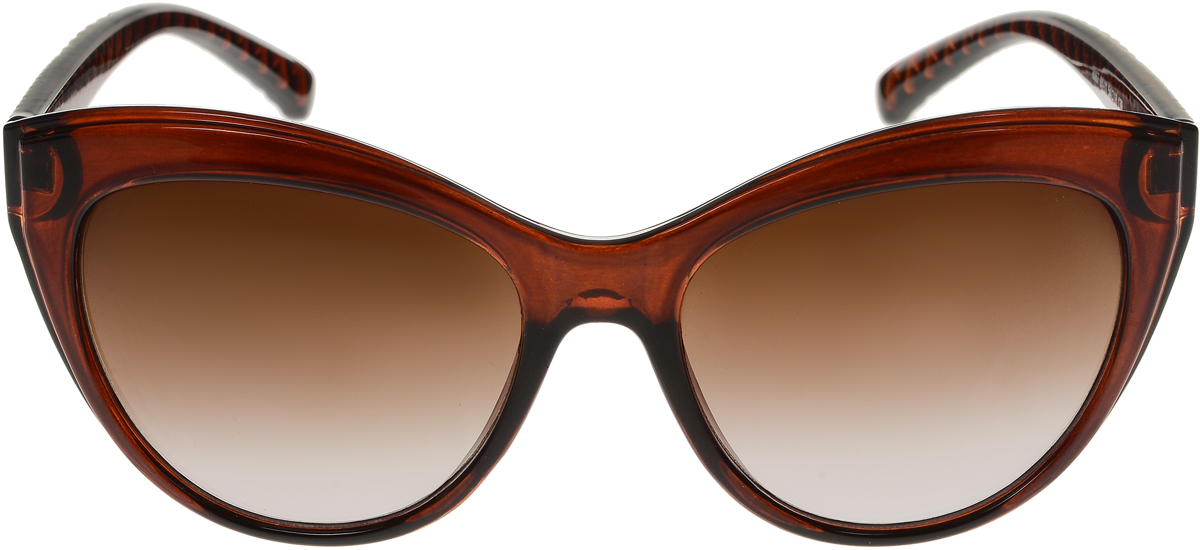 Очки солнцезащитные женские Vittorio Richi, цвет: коричневый. OC8067c81-11/17fBM8434-58AEСолнцезащитные очки Vittorio Richi выполнены из высококачественного пластика. Пластик используемый при изготовлении линз не искажает изображение, не подвержен нагреванию и вредному воздействию солнечных лучей. Оправа очков легкая, прилегающей формы и поэтому обеспечивает максимальный комфорт. Такие очки защитят глаза от ультрафиолетовых лучей, подчеркнут вашу индивидуальность и сделают ваш образ завершенным.
