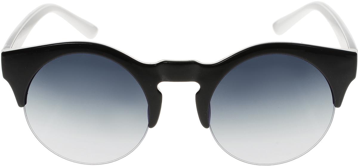 Очки солнцезащитные женские Vittorio Richi, цвет: черный, белый. ОС4260с5/17fINT-06501Солнцезащитные очки Vittorio Richi выполнены из высококачественного пластика. Пластик используемый при изготовлении линз не искажает изображение, не подвержен нагреванию и вредному воздействию солнечных лучей. Оправа очков легкая, прилегающей формы и поэтому обеспечивает максимальный комфорт. Такие очки защитят глаза от ультрафиолетовых лучей, подчеркнут вашу индивидуальность и сделают ваш образ завершенным.