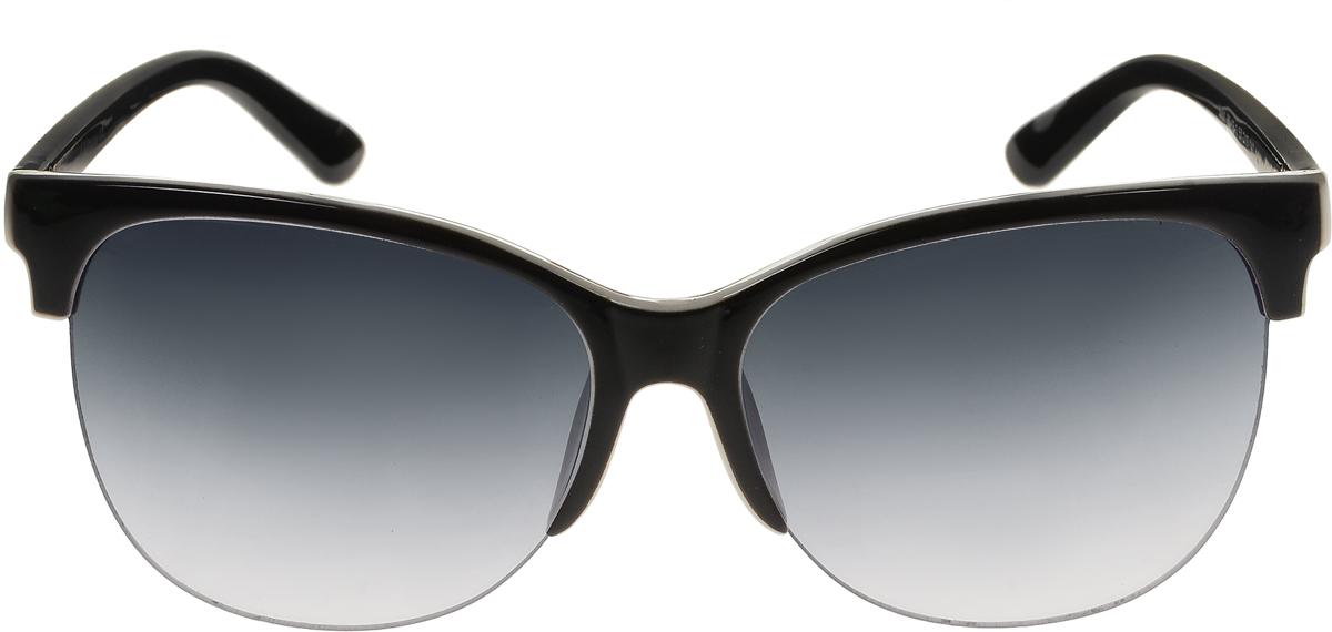 Очки солнцезащитные женские Vittorio Richi, цвет: черный. ОС5001с80-13-1/17fBM8434-58AEСолнцезащитные очки Vittorio Richi выполнены из высококачественного пластика. Пластик используемый при изготовлении линз не искажает изображение, не подвержен нагреванию и вредному воздействию солнечных лучей. Оправа очков легкая, прилегающей формы и поэтому обеспечивает максимальный комфорт. Такие очки защитят глаза от ультрафиолетовых лучей, подчеркнут вашу индивидуальность и сделают ваш образ завершенным.