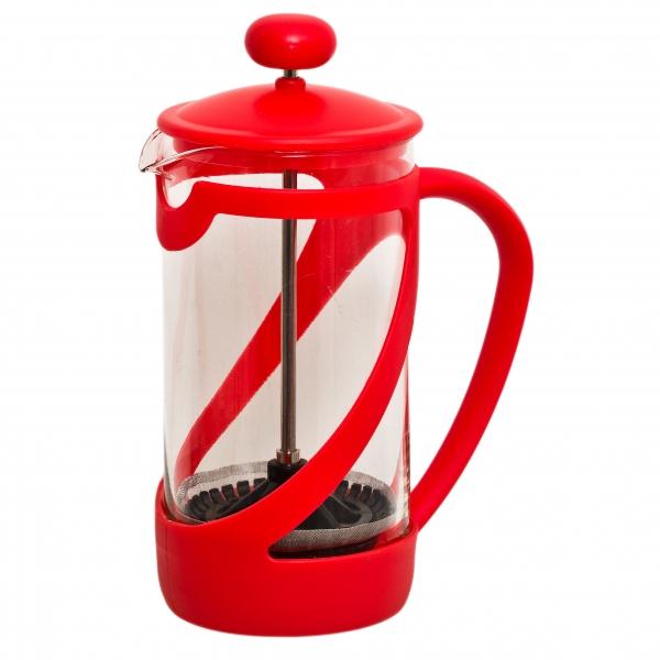 Френч-пресс Attribute Basic Color, цвет: красный, 350 млKT-5934.2.6_кофейныйФренч-пресс Attribute Basic Color позволит быстро и просто приготовить свежий и ароматный кофе иличай. Цветовая гамма подойдет даже для самого яркого интерьера. Френч-пресс изготовлен извысокотехнологичных материалов на современном оборудовании:- корпус изготовлен из высококачественного жаропрочного стекла, устойчивого к окрашиванию ицарапинам;- фильтр-поршень из нержавеющей стали выполнен по технологии press-up для обеспеченияравномерной циркуляции воды;- яркая подставка из пластика препятствует скольжению френч-пресса.Практичный и стильный дизайн френч-пресса Attribute Basic Color полностью соответствуетпоследним модным тенденциям в создании предметов бытового назначения.