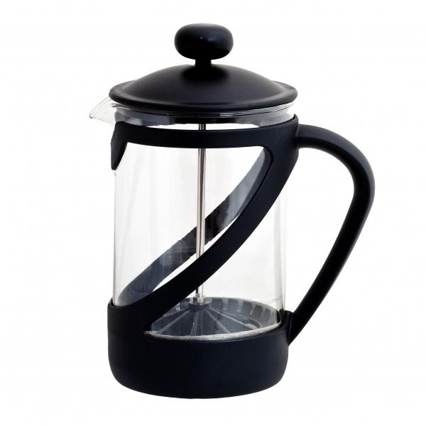 Френч-пресс Attribute Basic, цвет: черный, 850 млATT850Френч-пресс Attribute Basic позволит быстро и просто приготовить свежий и ароматный кофе иличай. Френч-пресс изготовлен извысокотехнологичных материалов на современном оборудовании:- корпус изготовлен из высококачественного жаропрочного стекла, устойчивого к окрашиванию ицарапинам;- фильтр-поршень из нержавеющей стали выполнен по технологии press-up для обеспеченияравномерной циркуляции воды;- подставка из пластика препятствует скольжению френч-пресса.Практичный и стильный дизайн френч-пресса Attribute Basic полностью соответствуетпоследним модным тенденциям в создании предметов бытового назначения.