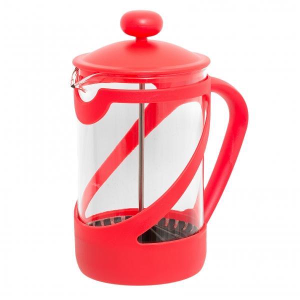 Френч-пресс Attribute Basic Color, 850 млVT-1520(SR)Френч-пресс Attribute Basic Color позволит быстро и просто приготовить свежий и ароматный кофе иличай. Цветовая гамма подойдет даже для самого яркого интерьера. Френч-пресс изготовлен извысокотехнологичных материалов на современном оборудовании:- корпус изготовлен из высококачественного жаропрочного стекла, устойчивого к окрашиванию ицарапинам;- фильтр-поршень из нержавеющей стали выполнен по технологии press-up для обеспеченияравномерной циркуляции воды;- яркая подставка из пластика препятствует скольжению френч-пресса.Практичный и стильный дизайн френч-пресса Attribute Basic Color полностью соответствуетпоследним модным тенденциям в создании предметов бытового назначения.
