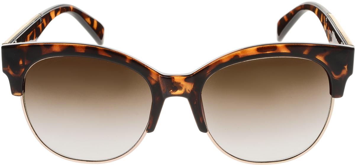Очки солнцезащитные женские Vittorio Richi, цвет: коричневый, золотой. OC1972с5/17fBM8434-58AEСолнцезащитные очки Vittorio Richi выполнены из высококачественного пластика и металла. Пластик используемый при изготовлении линз не искажает изображение, не подвержен нагреванию и вредному воздействию солнечных лучей. Оправа очков легкая, прилегающей формы и поэтому обеспечивает максимальный комфорт. Такие очки защитят глаза от ультрафиолетовых лучей, подчеркнут вашу индивидуальность и сделают ваш образ завершенным.