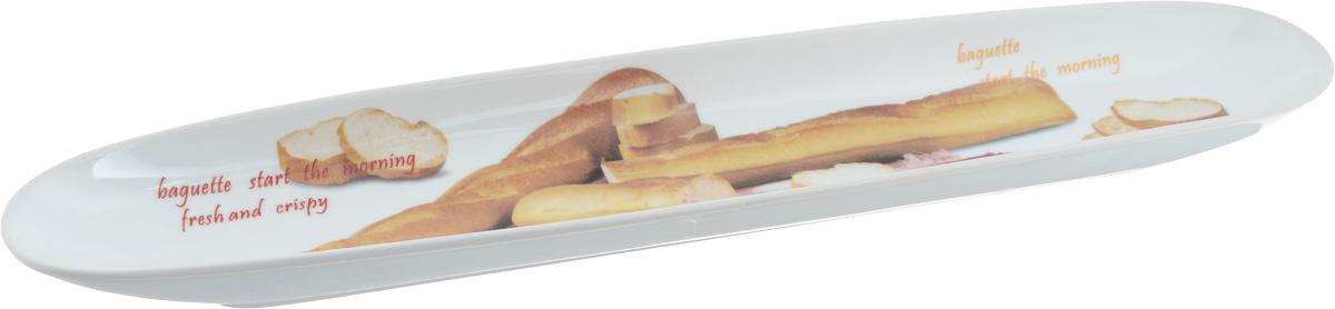Блюдо овальное Loraine, 47 х 9 см115510Блюдо овальное Loraine изготовлено из качественной керамики с глазурованным покрытием. Изделие имеет овальную форму и оформлено оригинальным изображением. Блюдо идеально подойдет для красивой подачи багета. Такое блюдо красиво оформит ваш стол и станет незаменимым на вашей кухне.
