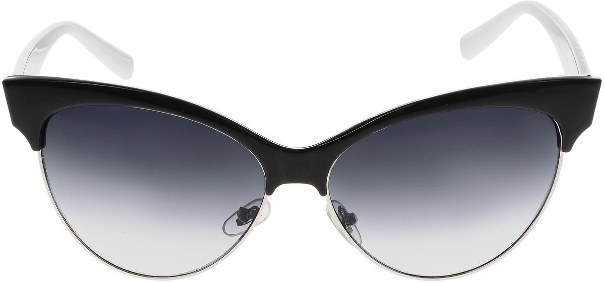 Очки солнцезащитные женские Vittorio Richi, цвет: черный, белый. ОС5022с80-10-3/17fINT-06501Солнцезащитные очки Vittorio Richi выполнены из высококачественного пластика и металла. Пластик используемый при изготовлении линз не искажает изображение, не подвержен нагреванию и вредному воздействию солнечных лучей. Оправа очков легкая, прилегающей формы и поэтому обеспечивает максимальный комфорт. Такие очки защитят глаза от ультрафиолетовых лучей, подчеркнут вашу индивидуальность и сделают ваш образ завершенным.