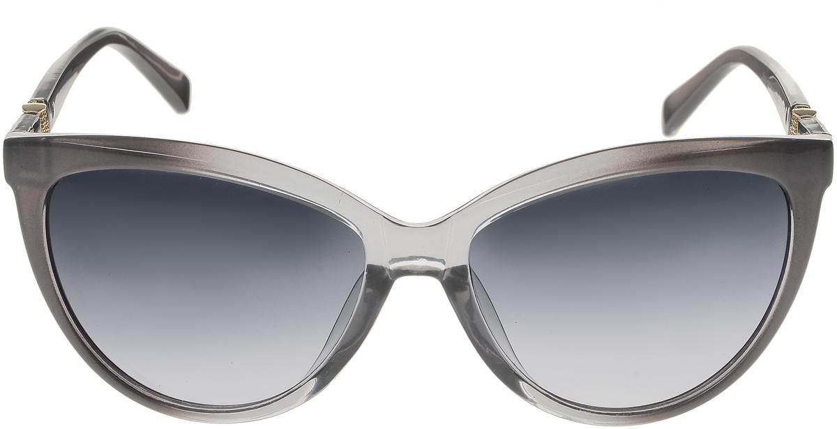 Очки солнцезащитные женские Vittorio Richi, цвет: серый. OC5111c80-20/17fBM8434-58AEСолнцезащитные очки Vittorio Richi выполнены из высококачественного пластика. Пластик используемый при изготовлении линз не искажает изображение, не подвержен нагреванию и вредному воздействию солнечных лучей. Оправа очков легкая, прилегающей формы и поэтому обеспечивает максимальный комфорт. Такие очки защитят глаза от ультрафиолетовых лучей, подчеркнут вашу индивидуальность и сделают ваш образ завершенным.