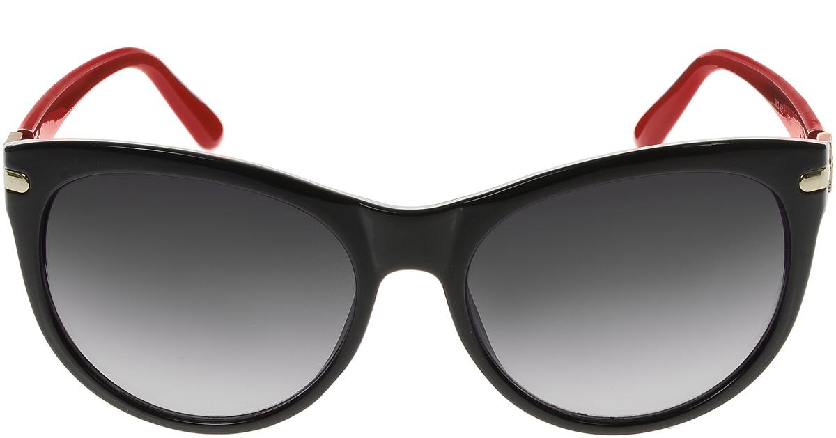 Очки солнцезащитные женские Vittorio Richi, цвет: черный, красный. OC1922с5/17fINT-06501Солнцезащитные очки Vittorio Richi выполнены из высококачественного пластика и металла, декорированы стразами. Пластик используемый при изготовлении линз не искажает изображение, не подвержен нагреванию и вредному воздействию солнечных лучей. Оправа очков легкая, прилегающей формы и поэтому обеспечивает максимальный комфорт. Такие очки защитят глаза от ультрафиолетовых лучей, подчеркнут вашу индивидуальность и сделают ваш образ завершенным.