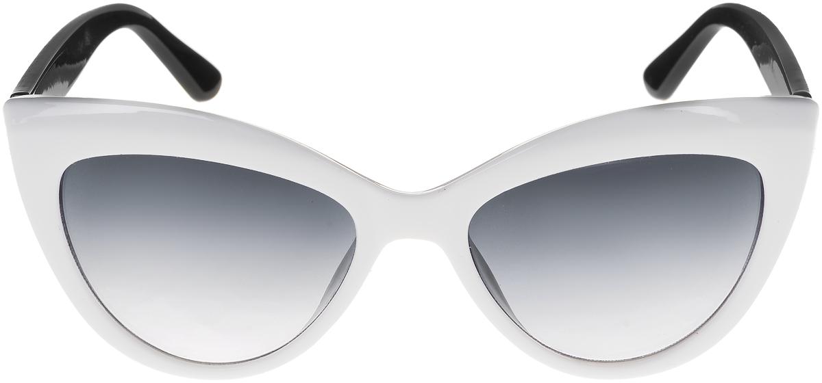 Очки солнцезащитные женские Vittorio Richi, цвет: белый, черный. ОС5013с80-27-4/17fINT-06501Солнцезащитные очки Vittorio Richi выполнены из высококачественного пластика. Пластик используемый при изготовлении линз не искажает изображение, не подвержен нагреванию и вредному воздействию солнечных лучей. Оправа очков легкая, прилегающей формы и поэтому обеспечивает максимальный комфорт. Такие очки защитят глаза от ультрафиолетовых лучей, подчеркнут вашу индивидуальность и сделают ваш образ завершенным.