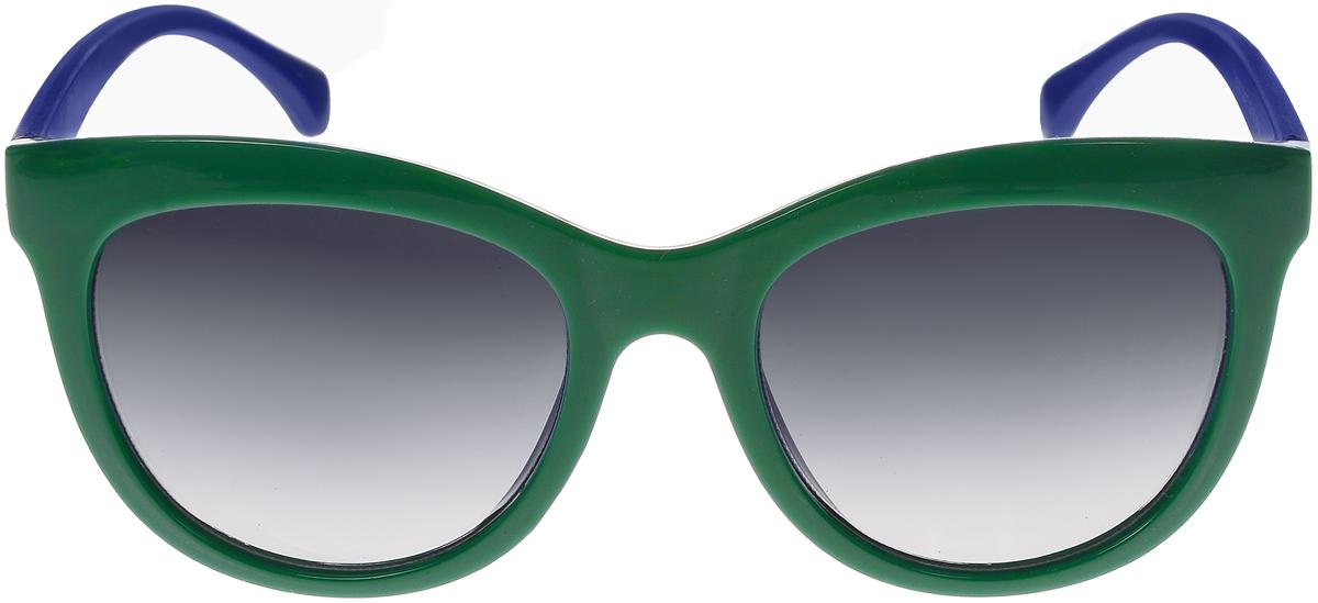 Очки солнцезащитные женские Vittorio Richi, цвет: зеленый, синий. ОС5108с80-39-18/17fINT-06501Солнцезащитные очки Vittorio Richi выполнены из высококачественного пластика. Пластик используемый при изготовлении линз не искажает изображение, не подвержен нагреванию и вредному воздействию солнечных лучей. Оправа очков легкая, прилегающей формы и поэтому обеспечивает максимальный комфорт. Такие очки защитят глаза от ультрафиолетовых лучей, подчеркнут вашу индивидуальность и сделают ваш образ завершенным.