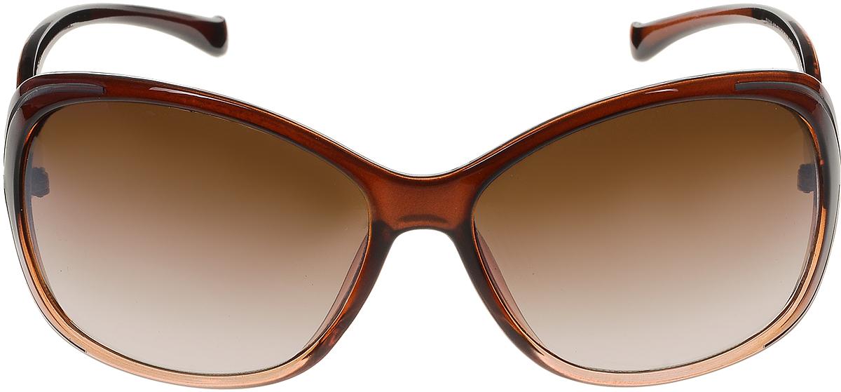 Очки солнцезащитные женские Vittorio Richi, цвет: коричневый. ОС5020с82-21/17fBM8434-58AEСолнцезащитные очки Vittorio Richi выполнены из высококачественного пластика и металла. Пластик используемый при изготовлении линз не искажает изображение, не подвержен нагреванию и вредному воздействию солнечных лучей. Оправа очков легкая, прилегающей формы и поэтому обеспечивает максимальный комфорт. Такие очки защитят глаза от ультрафиолетовых лучей, подчеркнут вашу индивидуальность и сделают ваш образ завершенным.