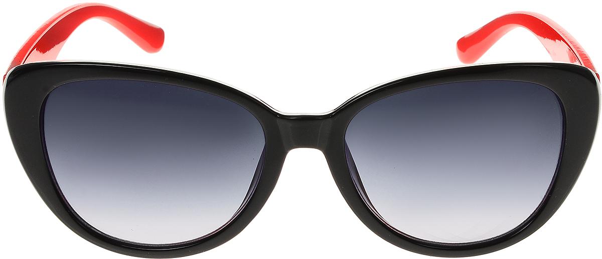 Очки солнцезащитные женские Vittorio Richi, цвет: черный, красный. ОС5109с80-10-20/17fINT-06501Солнцезащитные очки Vittorio Richi выполнены из высококачественного пластика. Пластик используемый при изготовлении линз не искажает изображение, не подвержен нагреванию и вредному воздействию солнечных лучей. Оправа очков легкая, прилегающей формы и поэтому обеспечивает максимальный комфорт. Такие очки защитят глаза от ультрафиолетовых лучей, подчеркнут вашу индивидуальность и сделают ваш образ завершенным.