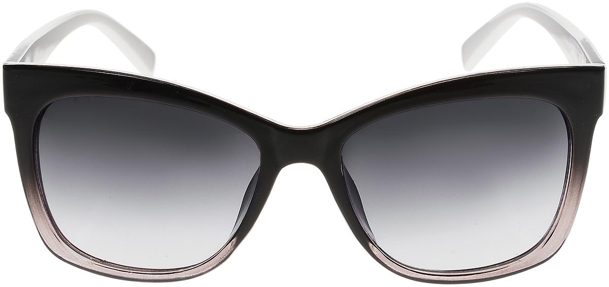 Очки солнцезащитные женские Vittorio Richi, цвет: черный, белый. ОС5011с80-22-3/17fINT-06501Солнцезащитные очки Vittorio Richi выполнены из высококачественного пластика и металла. Пластик используемый при изготовлении линз не искажает изображение, не подвержен нагреванию и вредному воздействию солнечных лучей. Оправа очков легкая, прилегающей формы и поэтому обеспечивает максимальный комфорт. Такие очки защитят глаза от ультрафиолетовых лучей, подчеркнут вашу индивидуальность и сделают ваш образ завершенным.