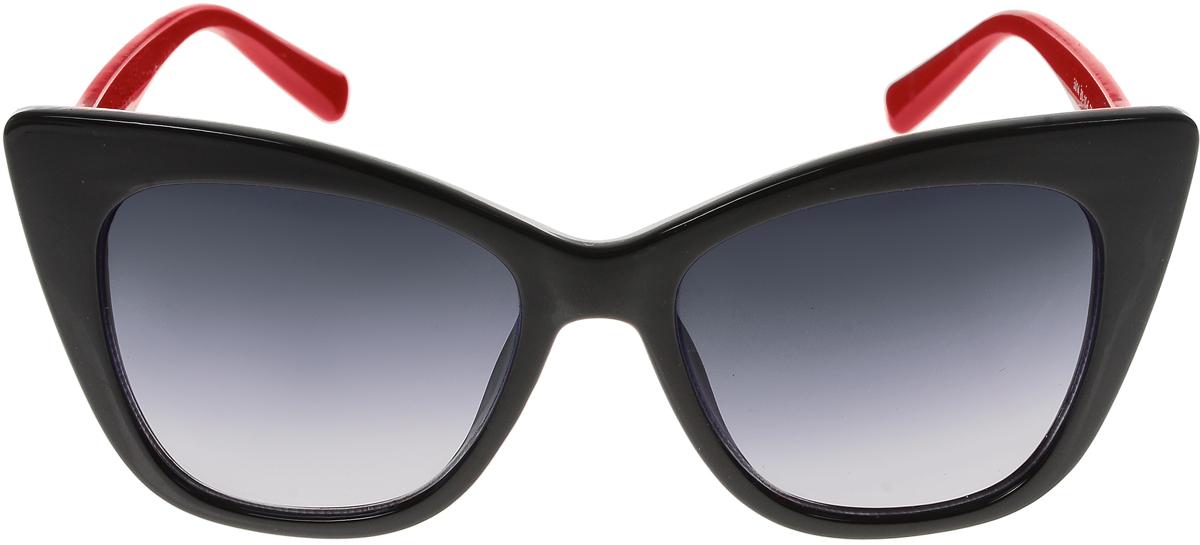 Очки солнцезащитные женские Vittorio Richi, цвет: черный, красный. ОС5014с80-10-6/17fBM8434-58AEСолнцезащитные очки Vittorio Richi выполнены из высококачественного пластика. Пластик используемый при изготовлении линз не искажает изображение, не подвержен нагреванию и вредному воздействию солнечных лучей. Оправа очков легкая, прилегающей формы и поэтому обеспечивает максимальный комфорт. Такие очки защитят глаза от ультрафиолетовых лучей, подчеркнут вашу индивидуальность и сделают ваш образ завершенным.