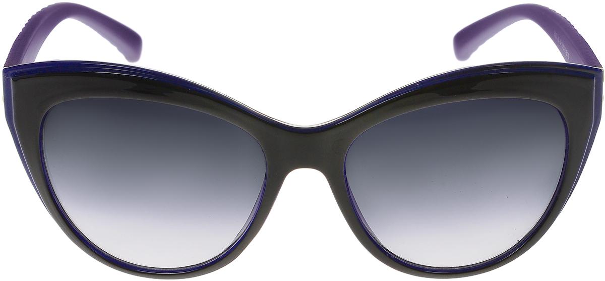 Очки солнцезащитные женские Vittorio Richi, цвет: фиолетовый, синий, черный. OC8067c80-14-18/17fSARMA норка С030-1Солнцезащитные очки Vittorio Richi выполнены из высококачественного пластика. Пластик используемый при изготовлении линз не искажает изображение, не подвержен нагреванию и вредному воздействию солнечных лучей. Оправа очков легкая, прилегающей формы и поэтому обеспечивает максимальный комфорт. Такие очки защитят глаза от ультрафиолетовых лучей, подчеркнут вашу индивидуальность и сделают ваш образ завершенным.