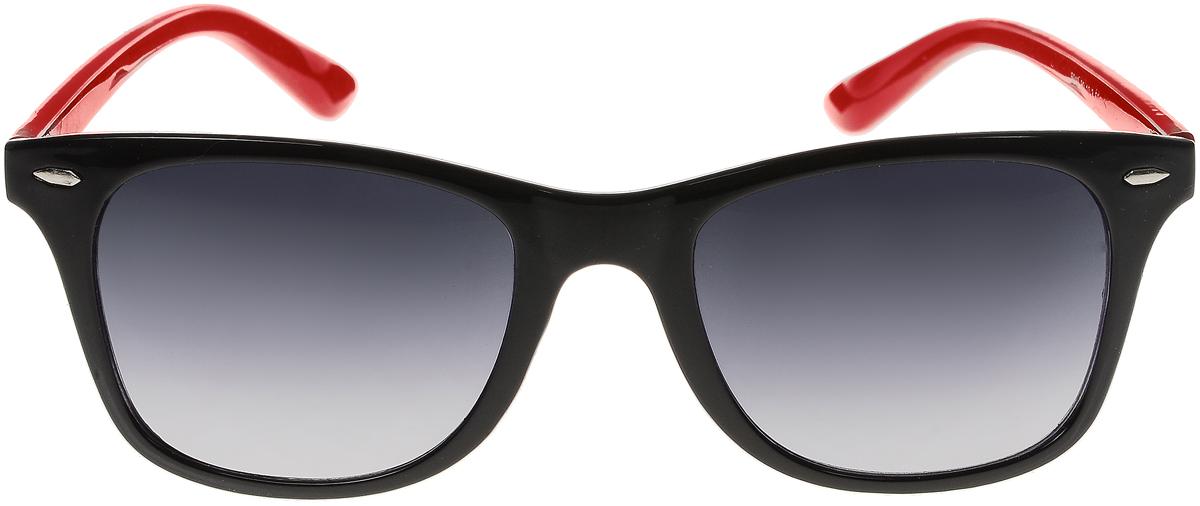 Очки солнцезащитные женские Vittorio Richi, цвет: черный, красный. ОС5019с80-10-3/17fINT-06501Солнцезащитные очки Vittorio Richi выполнены из высококачественного пластика. Пластик используемый при изготовлении линз не искажает изображение, не подвержен нагреванию и вредному воздействию солнечных лучей. Оправа очков легкая, прилегающей формы и поэтому обеспечивает максимальный комфорт. Такие очки защитят глаза от ультрафиолетовых лучей, подчеркнут вашу индивидуальность и сделают ваш образ завершенным.