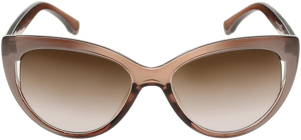 Очки солнцезащитные женские Vittorio Richi, цвет: темно-бежевый. ОС5006с82-19/17fBM8434-58AEСолнцезащитные очки Vittorio Richi выполнены из высококачественного пластика. Пластик используемый при изготовлении линз не искажает изображение, не подвержен нагреванию и вредному воздействию солнечных лучей. Оправа очков легкая, прилегающей формы и поэтому обеспечивает максимальный комфорт. Такие очки защитят глаза от ультрафиолетовых лучей, подчеркнут вашу индивидуальность и сделают ваш образ завершенным.