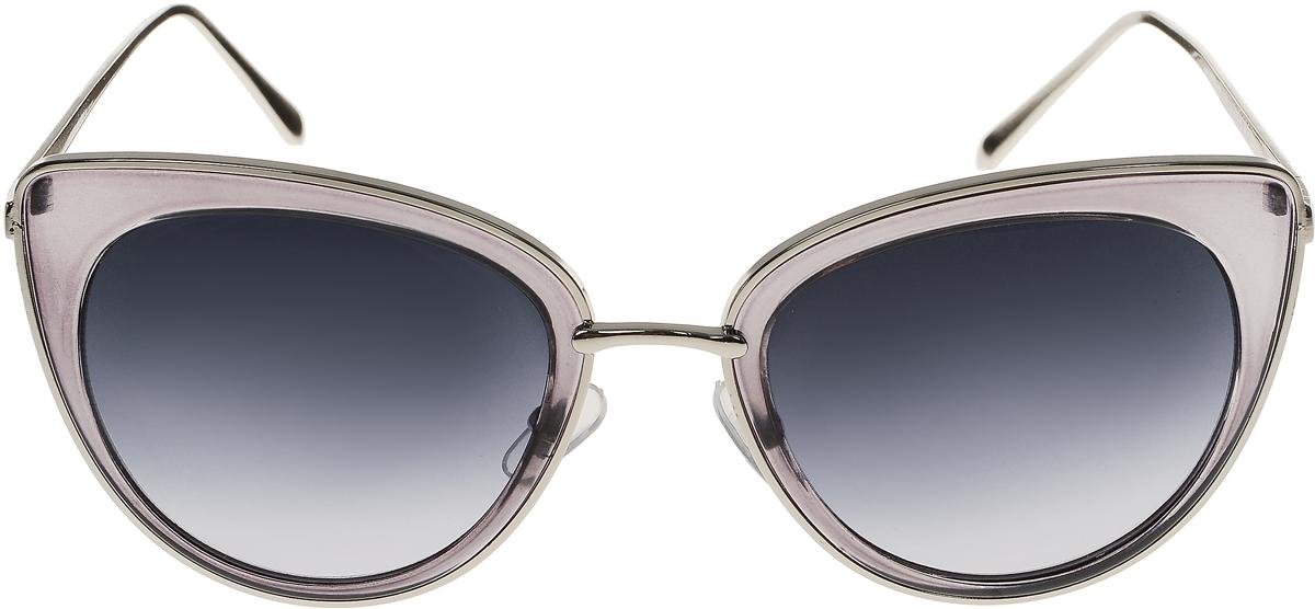 Очки солнцезащитные женские Vittorio Richi, цвет: серый. OC8001c80-24/17f1900671-5605Солнцезащитные очки Vittorio Richi выполнены из высококачественного пластика и металла. Пластик используемый при изготовлении линз не искажает изображение, не подвержен нагреванию и вредному воздействию солнечных лучей. Оправа очков легкая, прилегающей формы и поэтому обеспечивает максимальный комфорт. Такие очки защитят глаза от ультрафиолетовых лучей, подчеркнут вашу индивидуальность и сделают ваш образ завершенным.