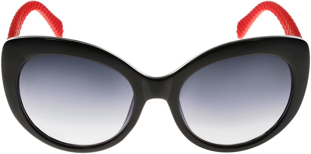 Очки солнцезащитные женские Vittorio Richi, цвет: черный, красный. ОС5110с80-10-2/17fBM8434-58AEСолнцезащитные очки Vittorio Richi выполнены из высококачественного пластика. Пластик используемый при изготовлении линз не искажает изображение, не подвержен нагреванию и вредному воздействию солнечных лучей. Оправа очков легкая, прилегающей формы и поэтому обеспечивает максимальный комфорт. Такие очки защитят глаза от ультрафиолетовых лучей, подчеркнут вашу индивидуальность и сделают ваш образ завершенным.