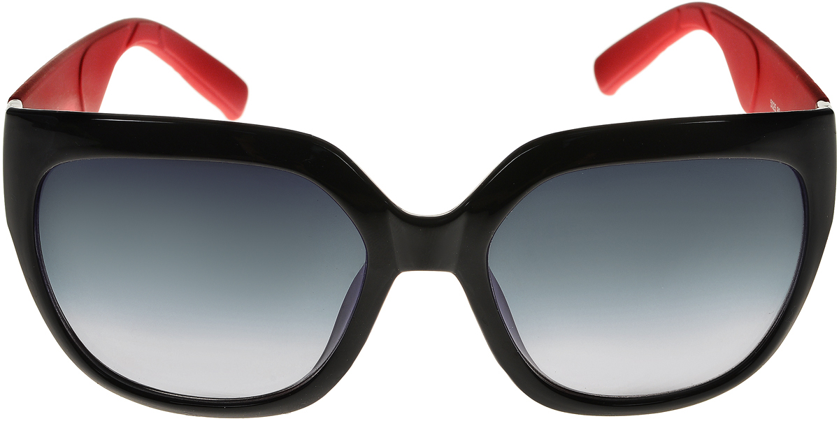 Очки солнцезащитные женские Vittorio Richi, цвет: черный, красный. ОС5025с80-10-2/17fINT-06501Солнцезащитные очки Vittorio Richi выполнены из высококачественного пластика. Пластик используемый при изготовлении линз не искажает изображение, не подвержен нагреванию и вредному воздействию солнечных лучей. Оправа очков легкая, прилегающей формы и поэтому обеспечивает максимальный комфорт. Такие очки защитят глаза от ультрафиолетовых лучей, подчеркнут вашу индивидуальность и сделают ваш образ завершенным.