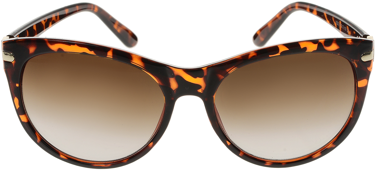 Очки солнцезащитные женские Vittorio Richi, цвет: коричневый. OC1922с3/17fINT-06501Солнцезащитные очки Vittorio Richi выполнены из высококачественного пластика и металла, декорированы стразами. Пластик используемый при изготовлении линз не искажает изображение, не подвержен нагреванию и вредному воздействию солнечных лучей. Оправа очков легкая, прилегающей формы и поэтому обеспечивает максимальный комфорт. Такие очки защитят глаза от ультрафиолетовых лучей, подчеркнут вашу индивидуальность и сделают ваш образ завершенным.