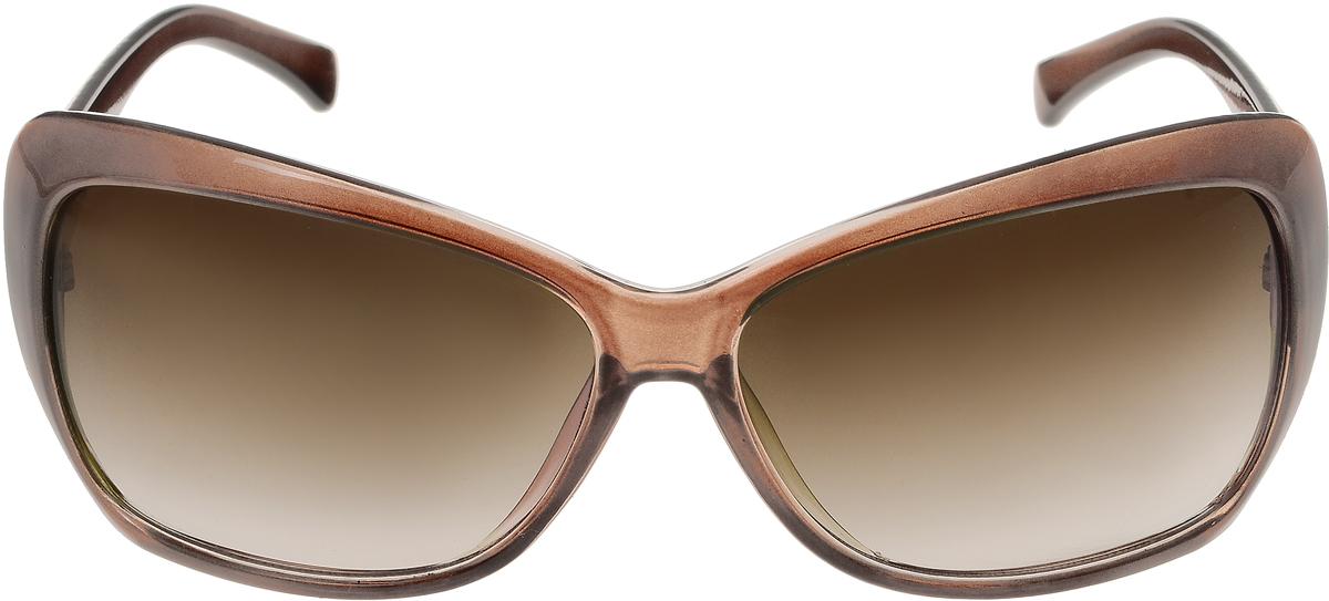 Очки солнцезащитные женские Vittorio Richi, цвет: коричневый. ОС5012с82-19/17fBM8434-58AEСолнцезащитные очки Vittorio Richi выполнены из высококачественного пластика. Пластик используемый при изготовлении линз не искажает изображение, не подвержен нагреванию и вредному воздействию солнечных лучей. Оправа очков легкая, прилегающей формы и поэтому обеспечивает максимальный комфорт. Такие очки защитят глаза от ультрафиолетовых лучей, подчеркнут вашу индивидуальность и сделают ваш образ завершенным.