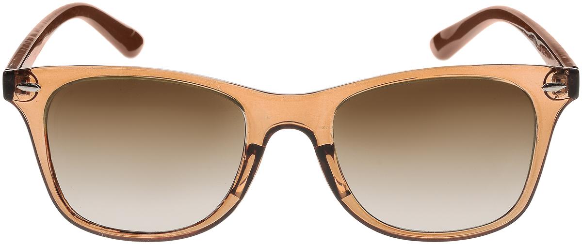 Очки солнцезащитные женские Vittorio Richi, цвет: коричневый. ОС5019с82-19/17fBM8434-58AEСолнцезащитные очки Vittorio Richi выполнены из высококачественного пластика. Пластик используемый при изготовлении линз не искажает изображение, не подвержен нагреванию и вредному воздействию солнечных лучей. Оправа очков легкая, прилегающей формы и поэтому обеспечивает максимальный комфорт. Такие очки защитят глаза от ультрафиолетовых лучей, подчеркнут вашу индивидуальность и сделают ваш образ завершенным.