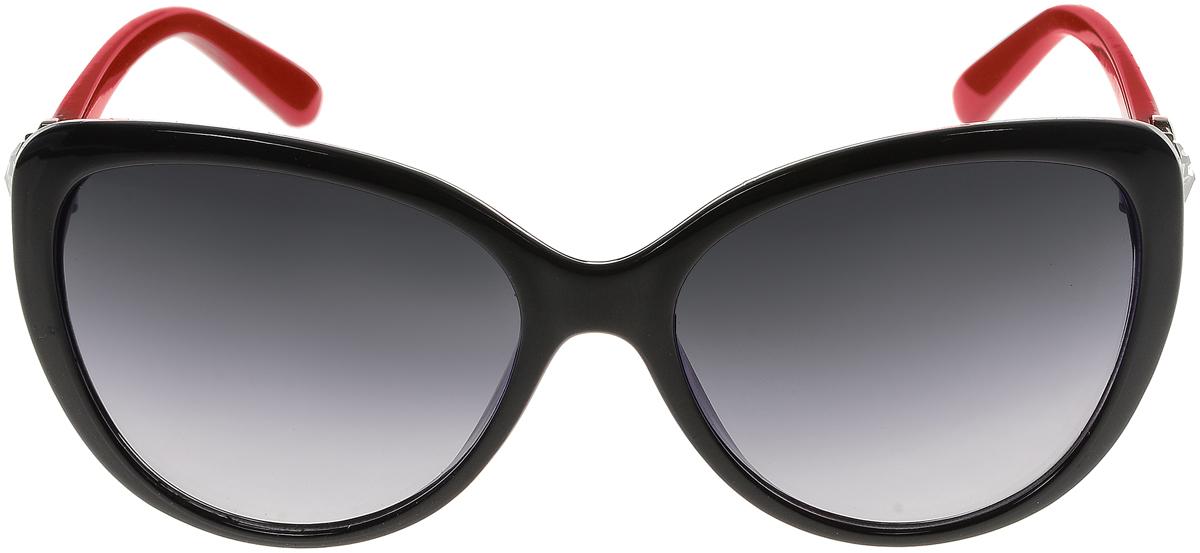 Очки солнцезащитные женские Vittorio Richi, цвет: черный, красный. ОС2062с80-10/17fBM8434-58AEСолнцезащитные очки Vittorio Richi выполнены из высококачественного пластика. Пластик используемый при изготовлении линз не искажает изображение, не подвержен нагреванию и вредному воздействию солнечных лучей. Оправа очков легкая, прилегающей формы и поэтому обеспечивает максимальный комфорт. Такие очки защитят глаза от ультрафиолетовых лучей, подчеркнут вашу индивидуальность и сделают ваш образ завершенным.