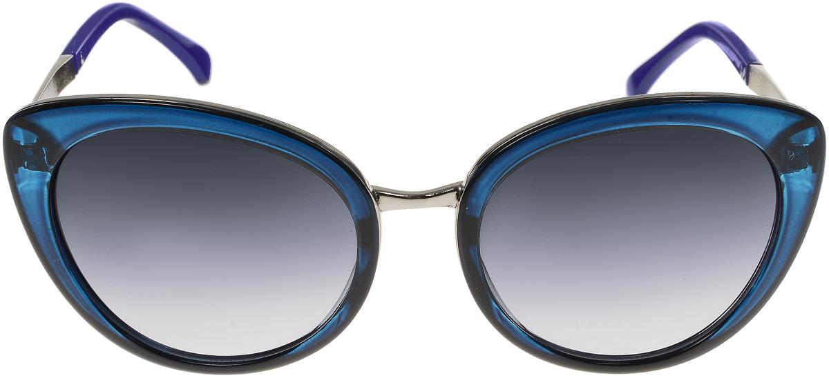 Очки солнцезащитные женские Vittorio Richi, цвет: синий. OC8006c80-15/17fBM8434-58AEСолнцезащитные очки Vittorio Richi выполнены из высококачественного пластика и металла. Пластик используемый при изготовлении линз не искажает изображение, не подвержен нагреванию и вредному воздействию солнечных лучей. Оправа очков легкая, прилегающей формы и поэтому обеспечивает максимальный комфорт. Такие очки защитят глаза от ультрафиолетовых лучей, подчеркнут вашу индивидуальность и сделают ваш образ завершенным.