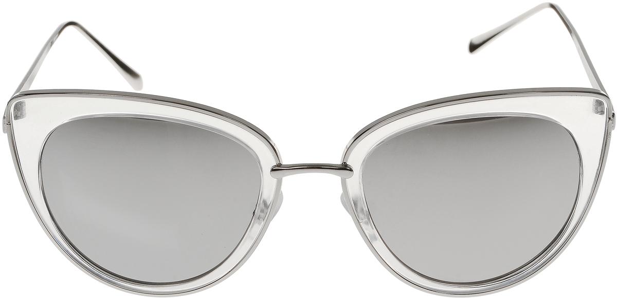 Очки солнцезащитные женские Vittorio Richi, цвет: серый, серебристый. OC8001c84-26/17fBM8434-58AEСолнцезащитные очки Vittorio Richi выполнены из высококачественного пластика и металла. Пластик используемый при изготовлении линз не искажает изображение, не подвержен нагреванию и вредному воздействию солнечных лучей. Оправа очков легкая, прилегающей формы и поэтому обеспечивает максимальный комфорт. Такие очки защитят глаза от ультрафиолетовых лучей, подчеркнут вашу индивидуальность и сделают ваш образ завершенным.