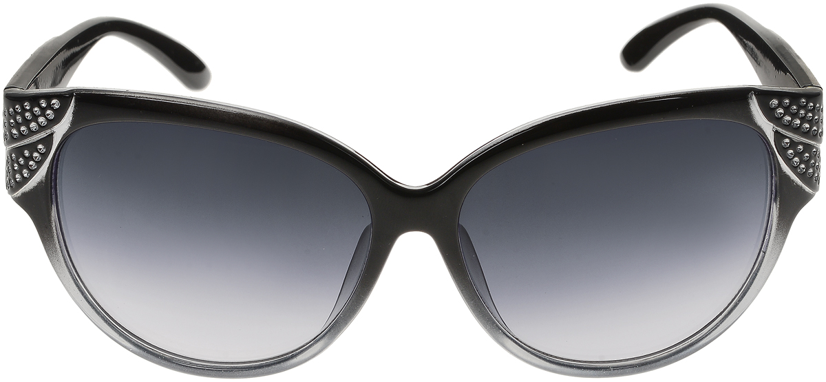 Очки солнцезащитные женские Vittorio Richi, цвет: черный. ОС5093с80-22/17fBM8434-58AEСолнцезащитные очки Vittorio Richi выполнены из высококачественного пластика. Пластик используемый при изготовлении линз не искажает изображение, не подвержен нагреванию и вредному воздействию солнечных лучей. Оправа очков легкая, прилегающей формы и поэтому обеспечивает максимальный комфорт. Такие очки защитят глаза от ультрафиолетовых лучей, подчеркнут вашу индивидуальность и сделают ваш образ завершенным.