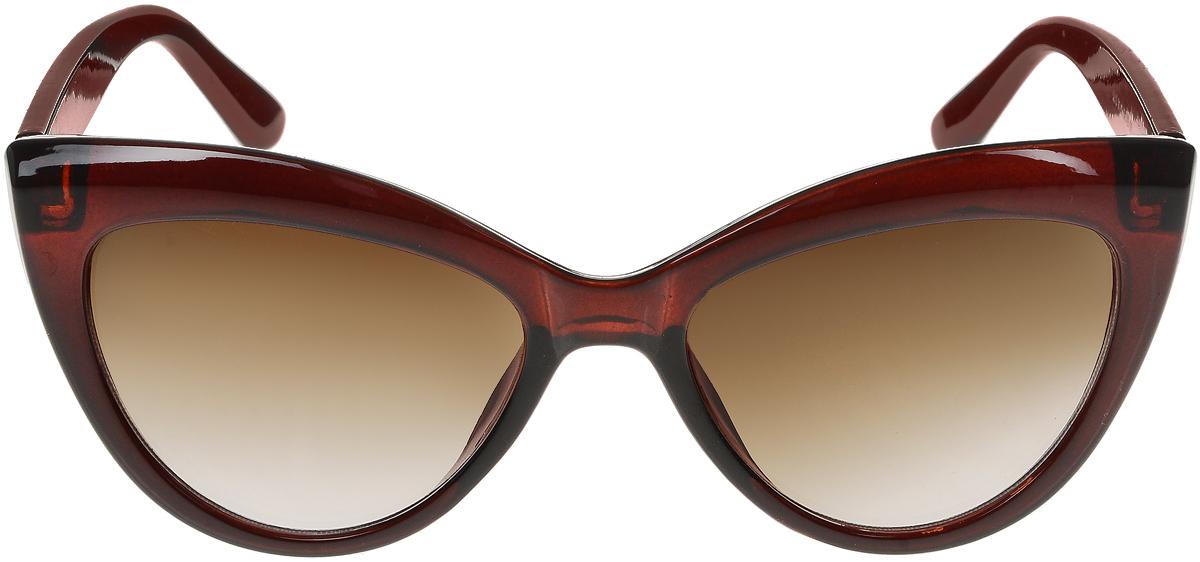 Очки солнцезащитные женские Vittorio Richi, цвет: коричневый. ОС5013с81-11/17fINT-06501Солнцезащитные очки Vittorio Richi выполнены из высококачественного пластика. Пластик используемый при изготовлении линз не искажает изображение, не подвержен нагреванию и вредному воздействию солнечных лучей. Оправа очков легкая, прилегающей формы и поэтому обеспечивает максимальный комфорт. Такие очки защитят глаза от ультрафиолетовых лучей, подчеркнут вашу индивидуальность и сделают ваш образ завершенным.
