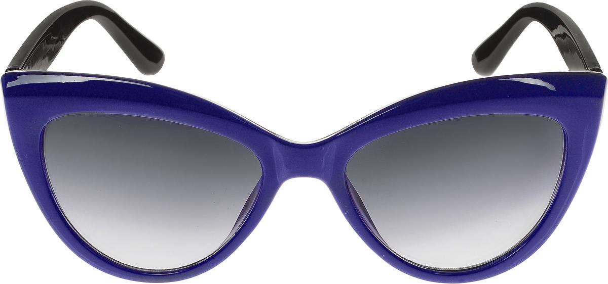 Очки солнцезащитные женские Vittorio Richi, цвет: синий, черный. ОС5013с80-17-4/17fINT-06501Солнцезащитные очки Vittorio Richi выполнены из высококачественного пластика. Пластик используемый при изготовлении линз не искажает изображение, не подвержен нагреванию и вредному воздействию солнечных лучей. Оправа очков легкая, прилегающей формы и поэтому обеспечивает максимальный комфорт. Такие очки защитят глаза от ультрафиолетовых лучей, подчеркнут вашу индивидуальность и сделают ваш образ завершенным.