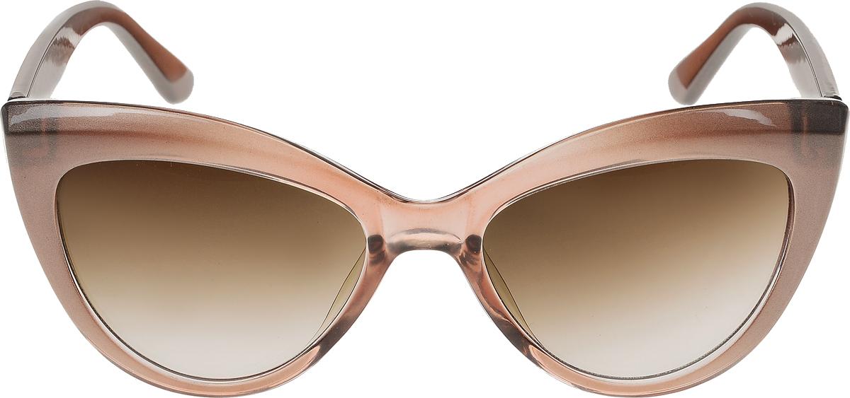 Очки солнцезащитные женские Vittorio Richi, цвет: коричневый. ОС5013с82-19/17fEQW-M710DB-1A1Солнцезащитные очки Vittorio Richi выполнены из высококачественного пластика. Пластик используемый при изготовлении линз не искажает изображение, не подвержен нагреванию и вредному воздействию солнечных лучей. Оправа очков легкая, прилегающей формы и поэтому обеспечивает максимальный комфорт. Такие очки защитят глаза от ультрафиолетовых лучей, подчеркнут вашу индивидуальность и сделают ваш образ завершенным.