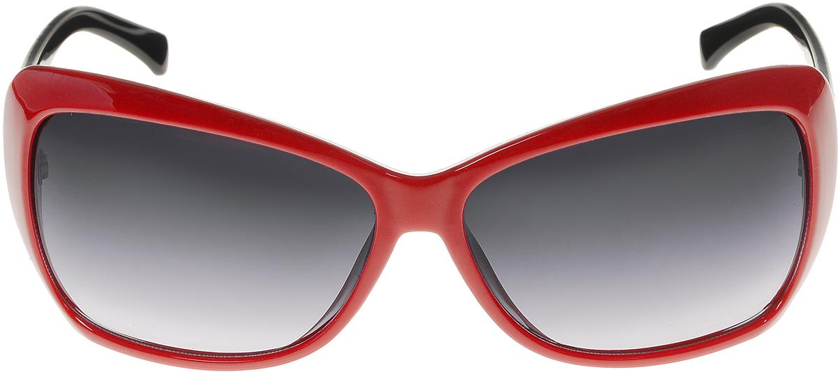 Очки солнцезащитные женские Vittorio Richi, цвет: красный, черный. ОС5012с80-28-4/17fINT-06501Солнцезащитные очки Vittorio Richi выполнены из высококачественного пластика. Пластик используемый при изготовлении линз не искажает изображение, не подвержен нагреванию и вредному воздействию солнечных лучей. Оправа очков легкая, прилегающей формы и поэтому обеспечивает максимальный комфорт. Такие очки защитят глаза от ультрафиолетовых лучей, подчеркнут вашу индивидуальность и сделают ваш образ завершенным.