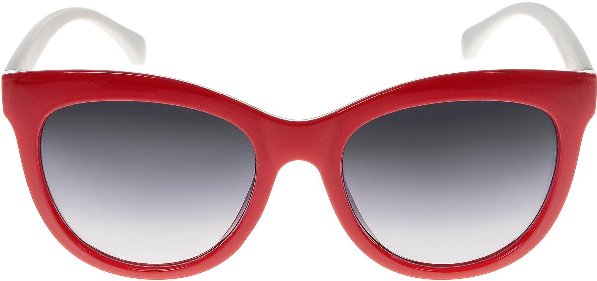 Очки солнцезащитные женские Vittorio Richi, цвет: красный, белый. ОС5108с80-28-3/17fBM8434-58AEСолнцезащитные очки Vittorio Richi выполнены из высококачественного пластика. Пластик используемый при изготовлении линз не искажает изображение, не подвержен нагреванию и вредному воздействию солнечных лучей. Оправа очков легкая, прилегающей формы и поэтому обеспечивает максимальный комфорт. Такие очки защитят глаза от ультрафиолетовых лучей, подчеркнут вашу индивидуальность и сделают ваш образ завершенным.