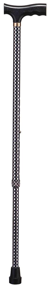 B.Well Трость WR-411 шахматы00001313WR-411 – это классическая опорная трость по доступной цене. Рукоятка трости имеет Т-образную форму, сделана из прочного нескользящего пластика. Корпус трости выполнен из авиационного алюминия, что обеспечивает и прочность, и легкость.Все трости B.Well являются телескопическими и регулируются по высоте. Кнопочный замок надежно зафиксирует трость на том уровне, который удобен и комфортен для Вас. Трехслойное покрытие корпуса трости обеспечит долговечность выбранного Вами рисунка.