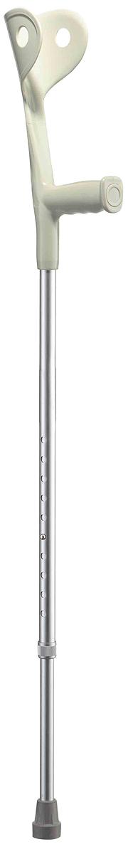 B.Well Костыль WR-322 серыйJA05-121-02Костыль-канадка WR-322 предназначен для пациентов, способных частично поддерживать свой вес, перенося основную нагрузку на кисти рук и локтевой сустав. Для надежной опоры верхняя часть костыля оснащена фиксирующей манжетой, а также комфортной рукояткой анатомической формы из прочного нескользящего пластика. Корпус костыля выполнен из авиационного алюминия, что обеспечивает и прочность, и легкость. Телескопическая конструкция позволяет отрегулировать высоту костыля на удобный для вас уровень.