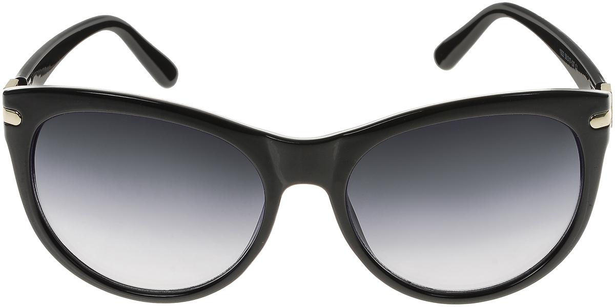 Очки солнцезащитные женские Vittorio Richi, цвет: черный. OC1922с1/17fSARMA норка С030-1Солнцезащитные очки Vittorio Richi выполнены из высококачественного пластика и металла, декорированы стразами. Пластик используемый при изготовлении линз не искажает изображение, не подвержен нагреванию и вредному воздействию солнечных лучей. Оправа очков легкая, прилегающей формы и поэтому обеспечивает максимальный комфорт. Такие очки защитят глаза от ультрафиолетовых лучей, подчеркнут вашу индивидуальность и сделают ваш образ завершенным.
