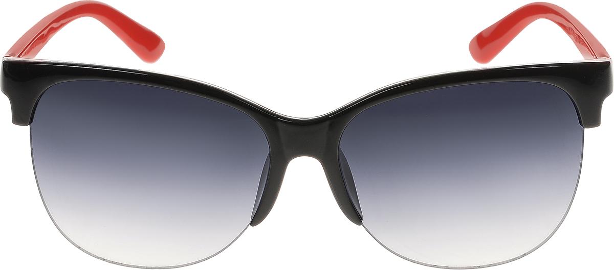 Очки солнцезащитные женские Vittorio Richi, цвет: черный, красный. ОС5001с80-10-2/17fBM8434-58AEСолнцезащитные очки Vittorio Richi выполнены из высококачественного пластика. Пластик используемый при изготовлении линз не искажает изображение, не подвержен нагреванию и вредному воздействию солнечных лучей. Оправа очков легкая, прилегающей формы и поэтому обеспечивает максимальный комфорт. Такие очки защитят глаза от ультрафиолетовых лучей, подчеркнут вашу индивидуальность и сделают ваш образ завершенным.