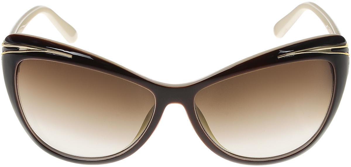 Очки солнцезащитные женские Vittorio Richi, цвет: коричневый, слоновая кость. ОС5043с82-12/17fBM8434-58AEСолнцезащитные очки Vittorio Richi выполнены из высококачественного пластика и металла. Пластик используемый при изготовлении линз не искажает изображение, не подвержен нагреванию и вредному воздействию солнечных лучей. Оправа очков легкая, прилегающей формы и поэтому обеспечивает максимальный комфорт. Такие очки защитят глаза от ультрафиолетовых лучей, подчеркнут вашу индивидуальность и сделают ваш образ завершенным.