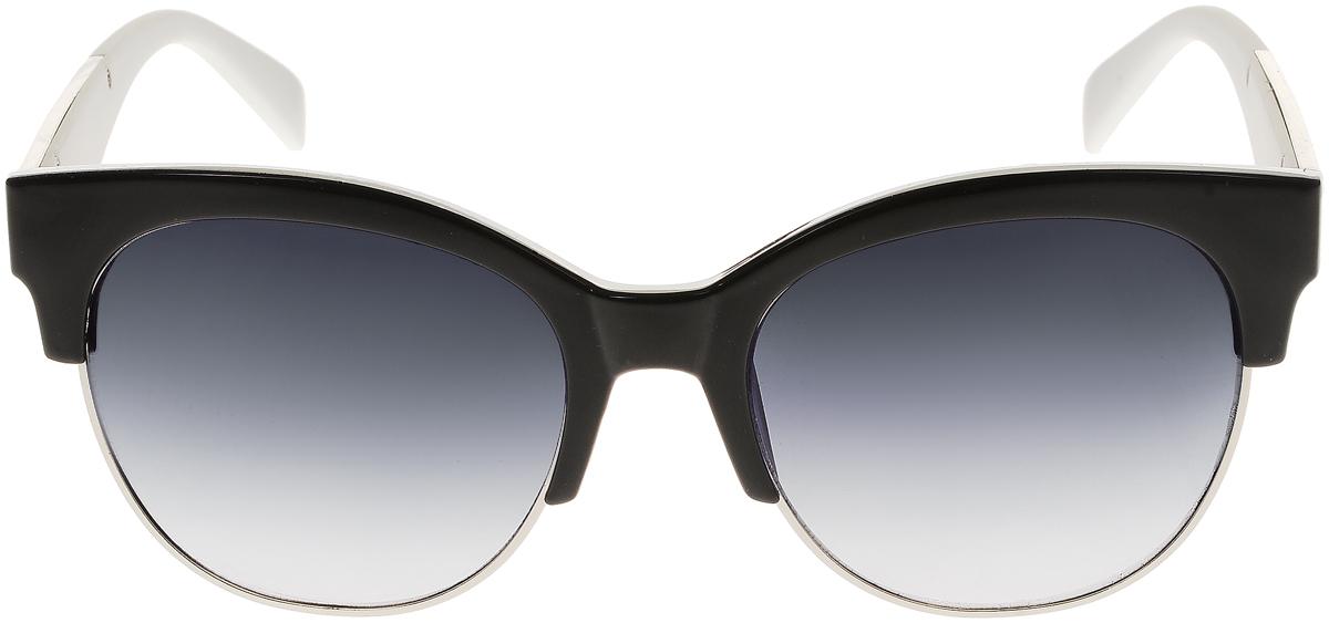 Очки солнцезащитные женские Vittorio Richi, цвет: черный, белый. OC1972с3/17fINT-06501Элегантные солнцезащитные очки Vittorio Richi выполнены из высококачественного пластика и металла. Пластик используемый при изготовлении линз не искажает изображение, не подвержен нагреванию и вредному воздействию солнечных лучей. Оправа очков легкая, прилегающей формы и поэтому обеспечивает максимальный комфорт. Такие очки защитят глаза от ультрафиолетовых лучей, подчеркнут вашу индивидуальность и сделают ваш образ завершенным.