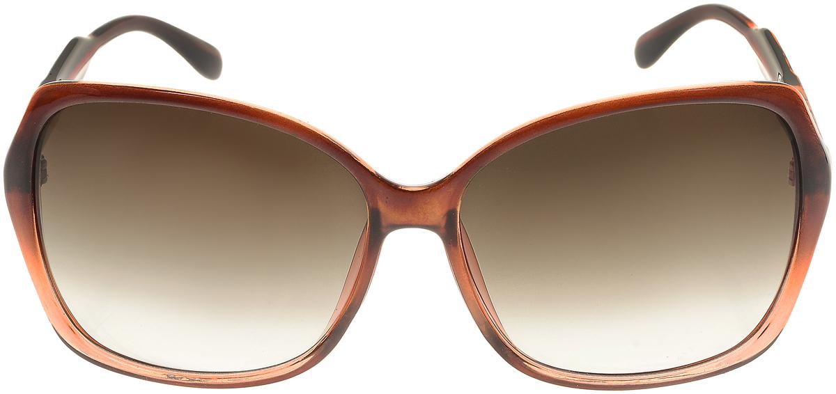 Очки солнцезащитные женские Vittorio Richi, цвет: коричневый. ОС5017с82-21/17fINT-06501Солнцезащитные очки Vittorio Richi выполнены из высококачественного пластика. Пластик используемый при изготовлении линз не искажает изображение, не подвержен нагреванию и вредному воздействию солнечных лучей. Оправа очков легкая, прилегающей формы и поэтому обеспечивает максимальный комфорт. Такие очки защитят глаза от ультрафиолетовых лучей, подчеркнут вашу индивидуальность и сделают ваш образ завершенным.