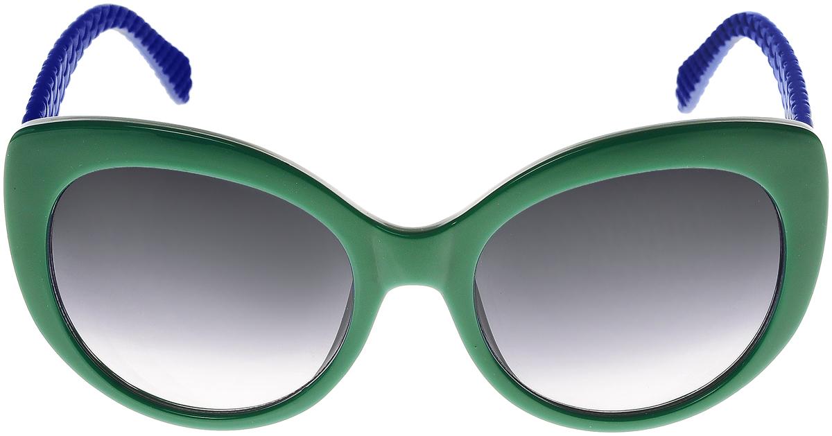 Очки солнцезащитные женские Vittorio Richi, цвет: зеленый, синий. ОС5110с80-39-18/17fINT-06501Солнцезащитные очки Vittorio Richi выполнены из высококачественного пластика. Пластик используемый при изготовлении линз не искажает изображение, не подвержен нагреванию и вредному воздействию солнечных лучей. Оправа очков легкая, прилегающей формы и поэтому обеспечивает максимальный комфорт. Такие очки защитят глаза от ультрафиолетовых лучей, подчеркнут вашу индивидуальность и сделают ваш образ завершенным.