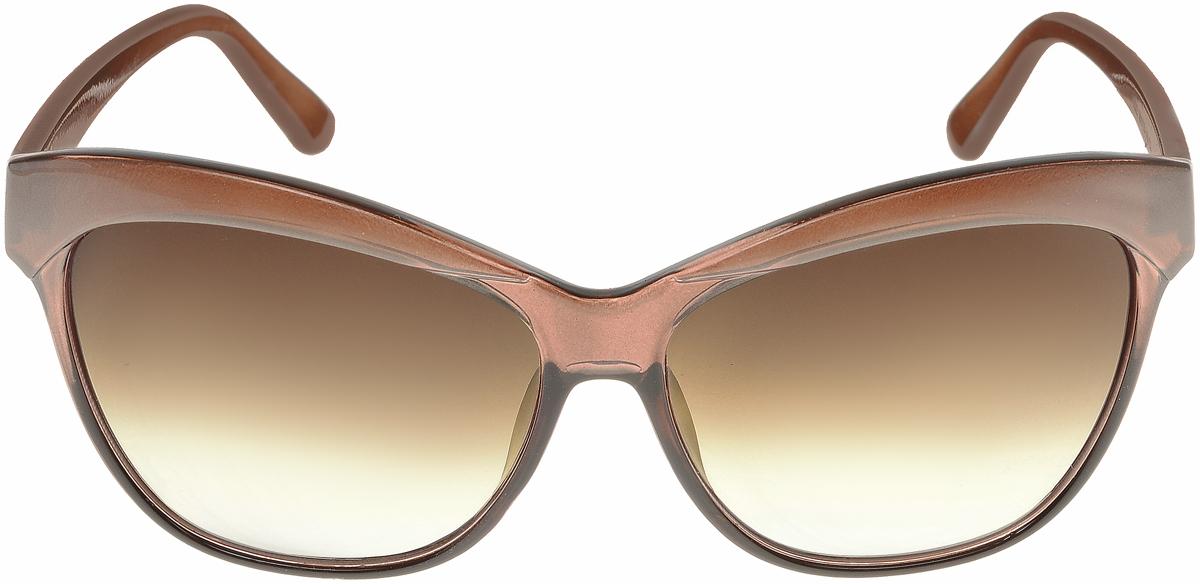 Очки солнцезащитные женские Vittorio Richi, цвет: коричневый. ОС1632с3/17fBM8434-58AEСолнцезащитные очки Vittorio Richi выполнены из высококачественного пластика. Пластик используемый при изготовлении линз не искажает изображение, не подвержен нагреванию и вредному воздействию солнечных лучей. Оправа очков легкая, прилегающей формы и поэтому обеспечивает максимальный комфорт. Такие очки защитят глаза от ультрафиолетовых лучей, подчеркнут вашу индивидуальность и сделают ваш образ завершенным.