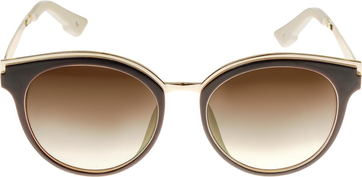 Очки солнцезащитные женские Vittorio Richi, цвет: коричневый, слоновая кость. OC8007с82-12-9/17fBM8434-58AEСолнцезащитные очки Vittorio Richi выполнены из высококачественного пластика и металла. Пластик используемый при изготовлении линз не искажает изображение, не подвержен нагреванию и вредному воздействию солнечных лучей. Оправа очков легкая, прилегающей формы и поэтому обеспечивает максимальный комфорт. Такие очки защитят глаза от ультрафиолетовых лучей, подчеркнут вашу индивидуальность и сделают ваш образ завершенным.