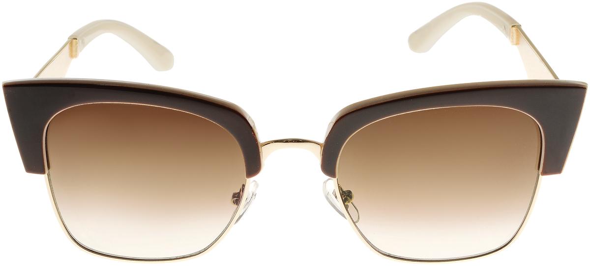 Очки солнцезащитные женские Vittorio Richi, цвет: коричневый, слоновая кость. OC1901c4/17fBM8434-58AEСолнцезащитные очки Vittorio Richi выполнены из высококачественного пластика и металла. Пластик используемый при изготовлении линз не искажает изображение, не подвержен нагреванию и вредному воздействию солнечных лучей. Оправа очков легкая, прилегающей формы и поэтому обеспечивает максимальный комфорт. Такие очки защитят глаза от ультрафиолетовых лучей, подчеркнут вашу индивидуальность и сделают ваш образ завершенным.
