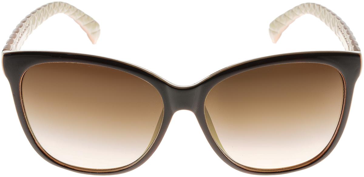 Очки солнцезащитные женские Vittorio Richi, цвет: коричневый, слоновая кость. ОС5024с82-12/17fBM8434-58AEЭлегантные солнцезащитные очки Vittorio Richi выполнены из высококачественного пластика. Пластик используемый при изготовлении линз не искажает изображение, не подвержен нагреванию и вредному воздействию солнечных лучей. Оправа очков легкая, прилегающей формы и поэтому обеспечивает максимальный комфорт. Такие очки защитят глаза от ультрафиолетовых лучей, подчеркнут вашу индивидуальность и сделают ваш образ завершенным.