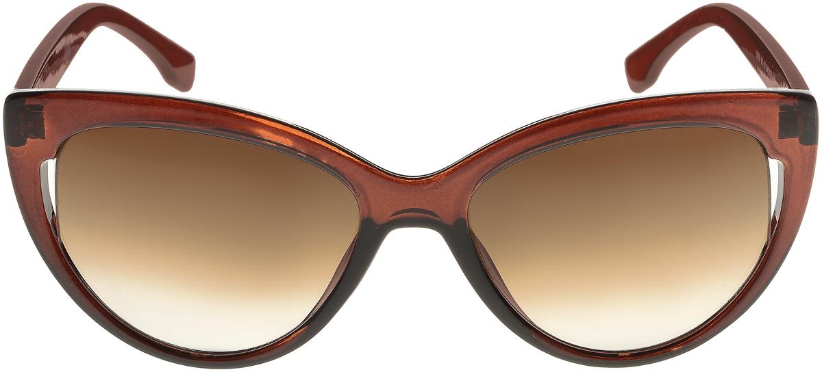Очки солнцезащитные женские Vittorio Richi, цвет: коричневый. ОС5006с81-11/17fINT-06501Солнцезащитные очки Vittorio Richi выполнены из высококачественного пластика. Пластик используемый при изготовлении линз не искажает изображение, не подвержен нагреванию и вредному воздействию солнечных лучей. Оправа очков легкая, прилегающей формы и поэтому обеспечивает максимальный комфорт. Такие очки защитят глаза от ультрафиолетовых лучей, подчеркнут вашу индивидуальность и сделают ваш образ завершенным.