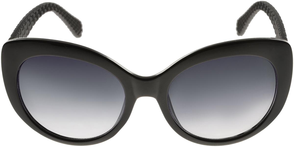 Очки солнцезащитные женские Vittorio Richi, цвет: черный. ОС5110с80-10/17fINT-06501Солнцезащитные очки Vittorio Richi выполнены из высококачественного пластика. Пластик используемый при изготовлении линз не искажает изображение, не подвержен нагреванию и вредному воздействию солнечных лучей. Оправа очков легкая, прилегающей формы и поэтому обеспечивает максимальный комфорт. Такие очки защитят глаза от ультрафиолетовых лучей, подчеркнут вашу индивидуальность и сделают ваш образ завершенным.