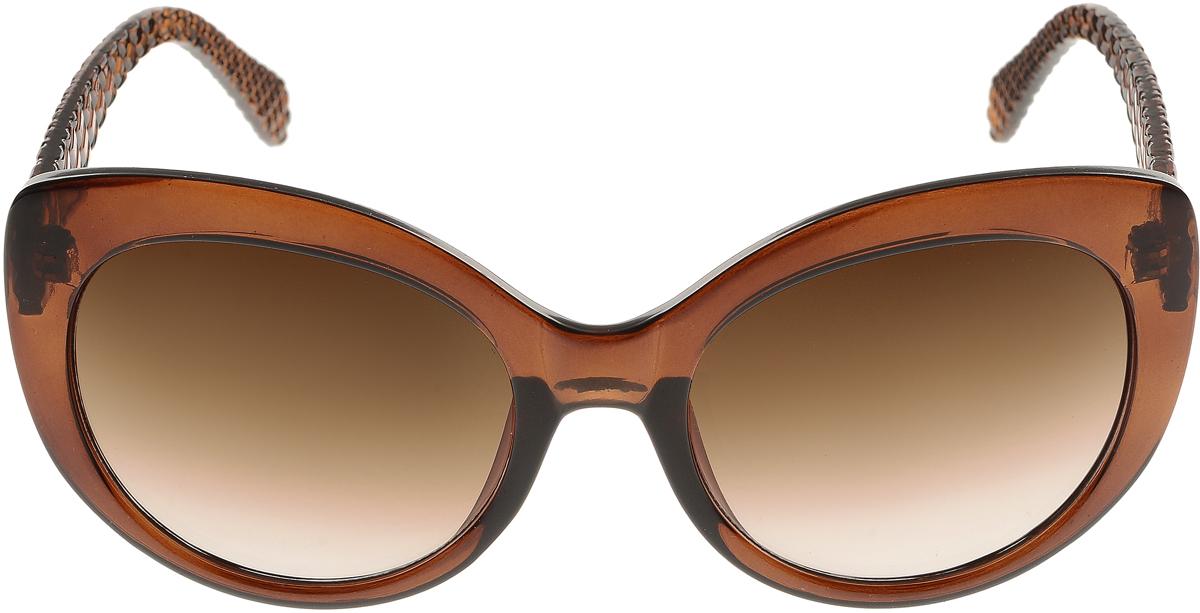 Очки солнцезащитные женские Vittorio Richi, цвет: коричневый. ОС5110с81-11/17fBM8434-58AEЭлегантные солнцезащитные очки Vittorio Richi выполнены из высококачественного пластика. Пластик используемый при изготовлении линз не искажает изображение, не подвержен нагреванию и вредному воздействию солнечных лучей. Оправа очков легкая, прилегающей формы и поэтому обеспечивает максимальный комфорт. Такие очки защитят глаза от ультрафиолетовых лучей, подчеркнут вашу индивидуальность и сделают ваш образ завершенным.